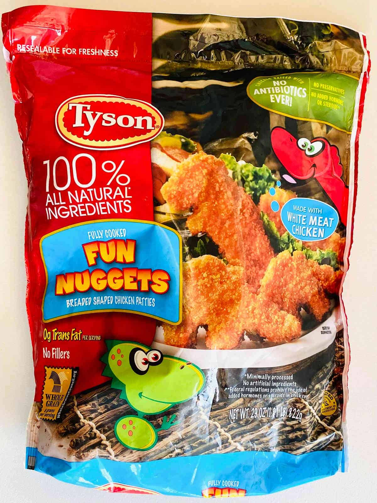 bag of tyson dino fun nuggets